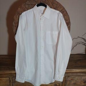Pronto Uomo White Slim Fit Button Down Dress Shirt